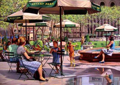 """Detail """"Bryant Park"""" Oil/linen, 44 x 72"""""""