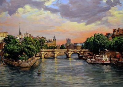 "Detail ""Pont des Arts"" Oil/linen, 40 x 72"""