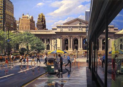 """Forty Second Street Library"" Oil/linen, 24 x 36"""
