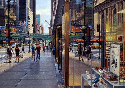 "Detail ""Grand Central"" Oil/linen, 50 x 68"""