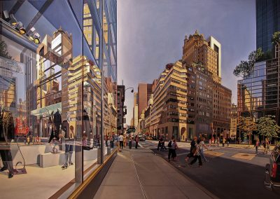 """56th and 5th Avenue""  Oil/linen, 38 x 60"""