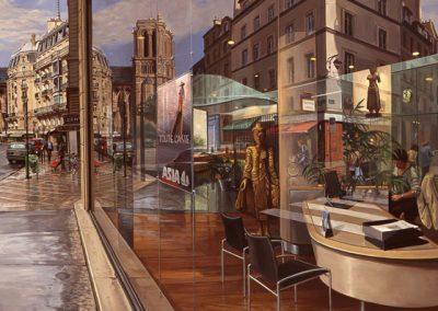 """Detail """"Notre Dame de Paris"""" Oil/linen, 52 x 74"""""""