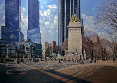 """Columbus Circle, Early Spring"" Oil/linen, 60 x 84"""