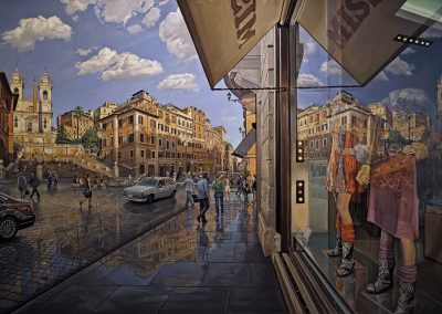 """Spanish Steps Self Portrait"" Oil/linen, 62 x 98"""