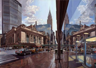 """Grand Central Window"" oil/linen 62 x 98"" 2012"