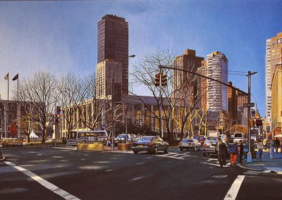 """Lincoln Center"" Oil/linen, 24 x 60"""