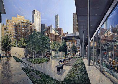 """MoMA Garden 47 x 79 """" oil/linen 2018"""