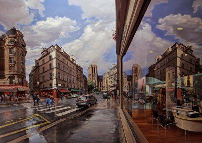 """""""Notre Dame de Paris"""" Oil/linen, 52 x 74"""""""