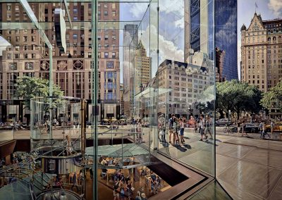"""NYC Apple"" Oil/linen, 56 x 86"""