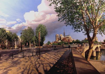 """Paris"" Oil/linen, 40 x 86"""