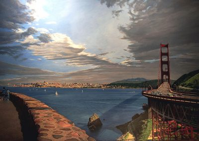 """San Francisco""  Oil/linen, 36 x 50"""